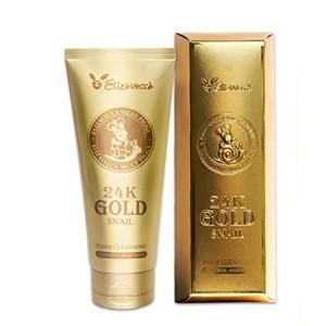 Пенка для умывания с золотом и муцином улитки ELIZAVECCA 24K Gold Snail Cleansing Foam 180мл