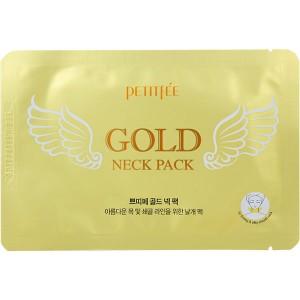 Гидрогелевые патчи с золотом для шеи PETITFEE Gold Neck Pack 1шт