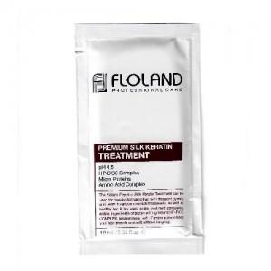 Восстанавливающая маска-бальзам для волос с кератином Floland Premium Silk Keratin Treatment пробник