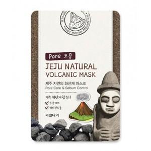 Тканевая маска для лица очищающая поры Welcos Jeju Natural Volcanic Mask Pore Care & Sebum Control