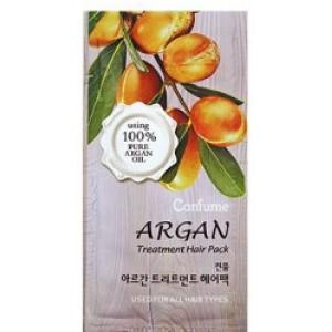 Увлажняющая маска с аргановым маслом и с золотом для поврежденных волос Welcos Confume Argan Hair Gold Treatment пробник