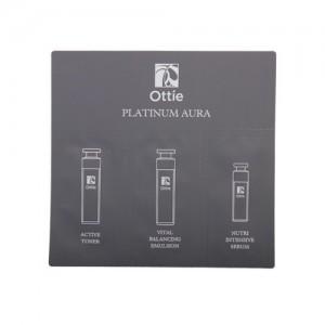3 в 1 антивозрастной тонер, эмульсия, сыворотка с икрой и платиной Ottie Platinum Aura пробник