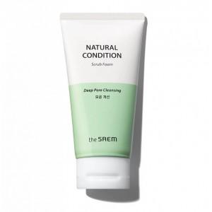 Очищающая пенка-скраб THE SAEM Natural Condition Scrub Foam 150мл