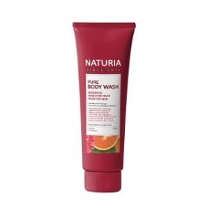 Гель для душа с фруктовым ароматом сладкого апельсина, клюквы и зеленого яблока EVAS Naturia Pure Body Wash Cranberry & Orange 100 мл