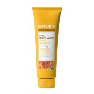 Гель для душа с ароматом романтического букета из лилий, нектарина и сладкого меда EVAS Naturia Pure Body Wash Honey & White Lily 100мл