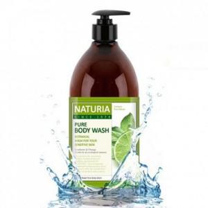 Гель для душа с освежающим ароматом мяты, эвкалипта и лайма EVAS Naturia Pure Body Wash ld Mint & Lime 750 мл