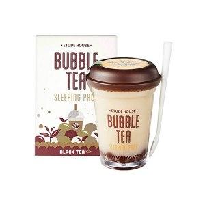 Ночная маска с пузырьками с экстрактом черного чая ETUDE HOUSE Bubble Tea Sleeping Pack Black Tea 100мл