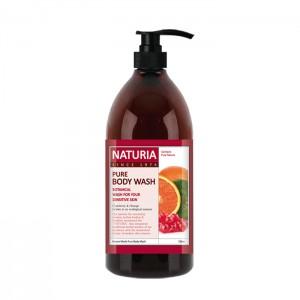 Гель для душа с фруктовым ароматом сладкого апельсина, клюквы и зеленого яблока EVAS Naturia Pure Body Wash Cranberry & Orange 750 мл