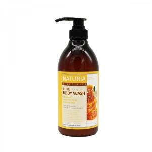 Гель для душа с ароматом романтического букета из лилий, нектарина и сладкого меда EVAS Naturia Pure Body Wash Honey & White Lily 750 мл
