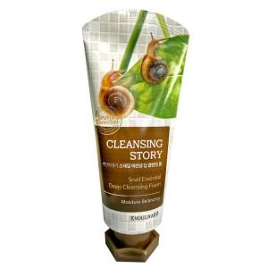 Пенка с муцином улитки для глубокого очищения кожи WELCOS Snail Essential Deep Cleansing Foam 120мл