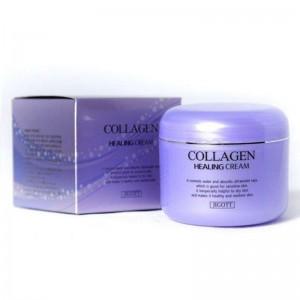 Питательный ночной крем с коллагеном JIGOTT Collagen Healing Cream 100мл
