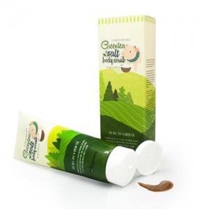 Скраб для тела с экстрактом зеленого чая и солью ELIZAVECCA Greentea Salt Body Scrub 300мл