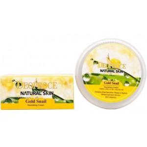 Крем для лица и тела с муцином золотой улитки Deoproce Natural Skin Gold Snail Nourishing Cream 100 мл