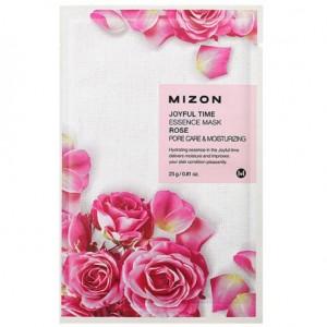 Тканевая маска для лица с экстрактом лепестков розы Mizon Joyful Time Essence Mask Rose