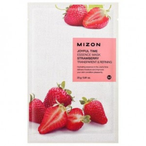 Тканевая маска для лица с экстрактом клубники Mizon Joyful Time Essence Mask Strawberry