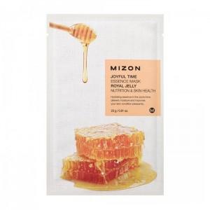 Тканевая маска для лица с экстрактом маточного молочка Mizon Joyful Time Essence Mask Royal Jelly