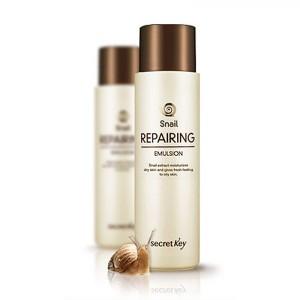 Восстанавливающая эмульсия сэкстрактом слизи улитки SECRET KEY Snail + EGF Repairing Emulsion 150мл