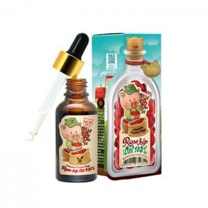 Масло шиповника для лица, тела, волос ELIZAVECCA Farmer Piggy Rose Hip Oil 100% 100мл