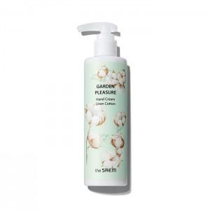 Крем для рук с экстрактом хлопка THE SAEM Garden Pleasure Hand Cream Linen Cotton 250мл