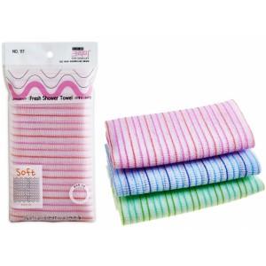 Массажная мочалка средней жесткости SUNG BO CLEAMY Clean & Beauty Fresh Shower Towel (28х100)