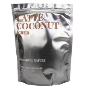Кофейный скраб для тела Латте и кокос Skinomical Nature Latte Coconut Scrub 250гр