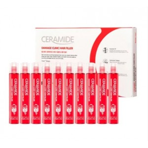 Восстанавливающий филлер с керамидами для поврежденных волос FARMSTAY Ceramide Damage Clinic Hair Filler 1шт