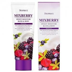 Питательный крем для кожи рук и тела Deoproce Mixberry Sweet Moisture Hand & Body 100мл