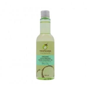 Кокосовое масло для кожи и волос ГОЛУБЫЕ НЕБЕСА Tropicana Organic Cold Pressed Virgin Coconut Oil Blue Sky 100мл