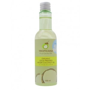 Кокосовое масло для кожи и волос Жасмин Tropicana Organic Cold Pressed Jasmine Virgin Coconut Oil 100мл