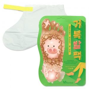 Отшелушивающая маска-носочки для ног ELIZAVECCA Witch Piggy Hell-Pore Turtle's Foot