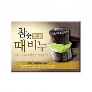 Мыло-скраб с древесным углем Mukunghwa Hardwood Charcoal Scrub Soap 100гр