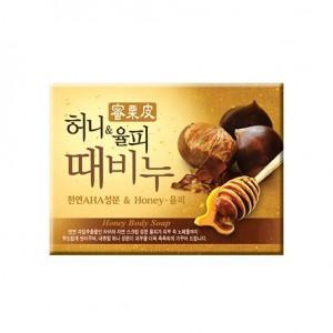 Мыло-скраб с с медом и каштаном Mukunghwa Honey & Chestnut Scrub Soap 100гр