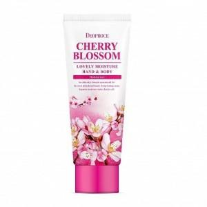 Увлажняющий крем для кожи рук и тела DEOPROCE Lovely Moisture Hand & Body Cherry Blossom