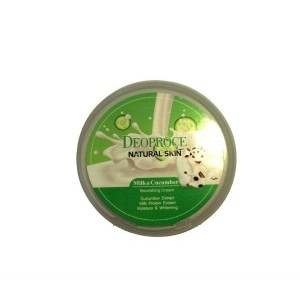 Крем для лица и тела с огурцом и молоком Deoproce Natural Skin Milk&Cucumber  Nourishing Cream 100 мл