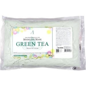 Альгинатная маска успокаивающая и антиоксидантная с экстрактом зеленого чая ANSKIN Modeling Mask Green Tea For Balance & Calming 240гр