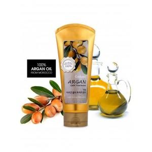 Увлажняющая маска с аргановым маслом и с золотом для поврежденных волос Welcos Confume Argan Hair Gold Treatment 200мл