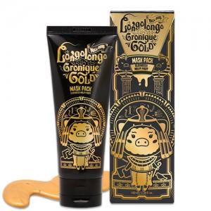 Маска пленка золотая омолаживающая Elizavecca Milky Piggy Hell-Pore Longo Longo Gronique Gold Mask Pack 100мл