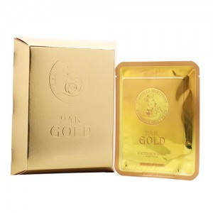 Тканевая маска с золотом и муцином улитки Elizavecca 24K Gold Water Dual Snail Mask