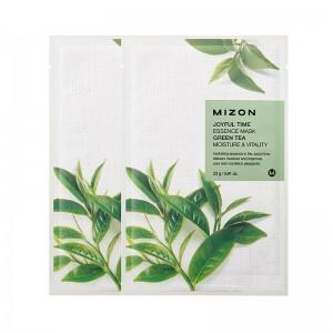 Тканевая маска для лица с экстрактом зелёного чая Mizon Joyful Time Essence Mask Green Tea