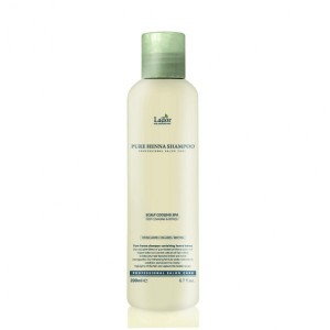Профессиональный укрепляющий шампунь с хной  LADOR Pure Henna Shampoo 200мл