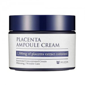 Антивозрастной, укрепляющий, питательный плацентарный крем MIZON Placenta Ampoule Cream