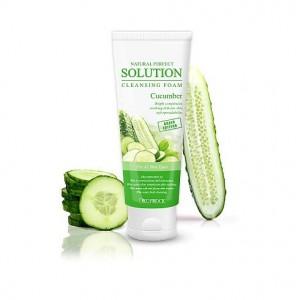 Пенка для умывания с экстрактом огурца DEOPROCE Natural Perfect Solution Cleansing Foam Cucumber 170 мл