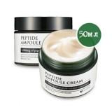 Высококонцентрированный пептидный крем для укрепления кожи Mizon Peptide Ampoule Cream 50мл