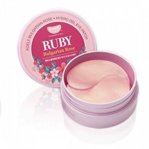 Патчи для глаз гидрогелевые с маслом болгарской розы Petitfee Koelf Ruby & Bulgarian Rose Eye 60шт