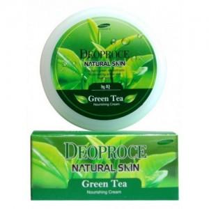 Питательный крем с экстрактом зеленого чая Deoproce Natural Skin Greentea Nourishing Cream 100 мл