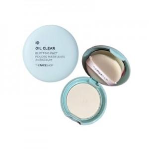 Пудра для комбинированной и жирной кожи The Face Shop Oil Clear Smooth & Bright Pact SPF30 PA++ 9гр