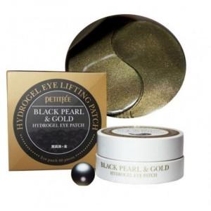 Гидрогелевые патчи с черным жемчугом и золотом PETITFEE Black Pearl & Gold Hydrogel Eye Patch 60шт