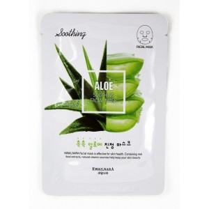 Тканевая маска для лица Welcos Kwailnara Aloe Sooting Facial Mask 20g