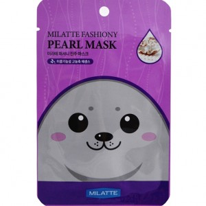 Тканевая маска для лица с экстрактом жемчуга Milatte Fashiony Pearl Mask Sheet