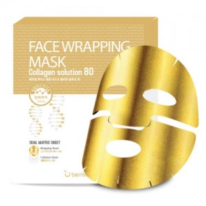 Укрепляющая маска Berrisom Face Wrapping Mask Collagen Solution 80